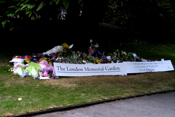 Banners for Memorial Gardens for westminster city council & Built up letters made and installed by www.e-signs.co.uk for
