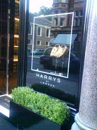 Harrys of London Vinyl decal signs www.e-signs.co.uk terms and conditions apply