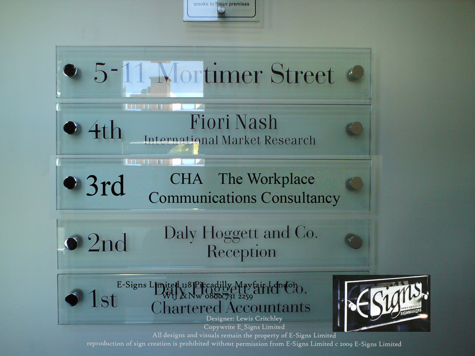 signage for Westminster City Council, BIS , IPO , BArclays, HSBC E.on supplied by www.e-signs.co.uk slatz sign v1