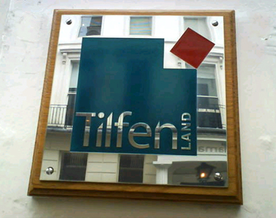 tilfen land plaque close Engraved Plaques www.e-signs.co.uk E Signs ®