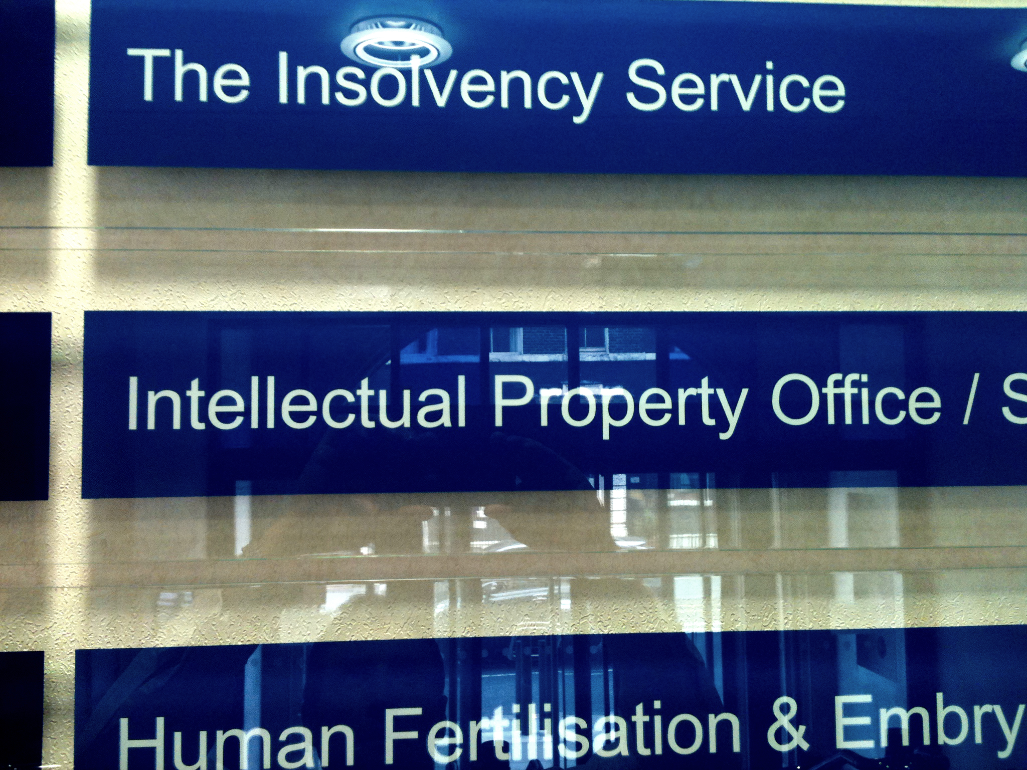 Illuminated Fascia IPO Intellectula Property Office sign by E Signs ® E Signs is the registered trade mark of Lewis Critchley www.e-signs.co.uk