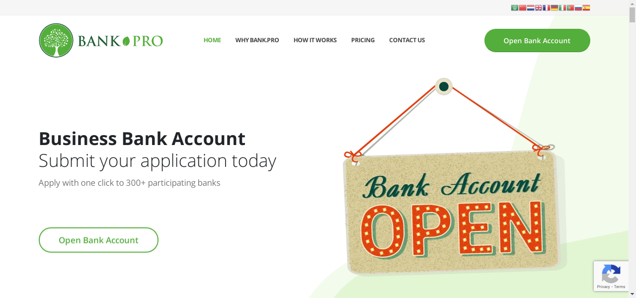 Bank.pro – Bank Account Opening Service