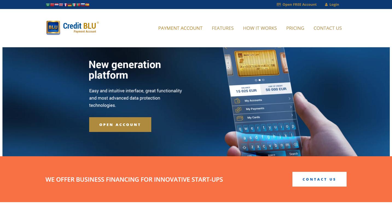 CreditBLU.com – BLU Payment Account