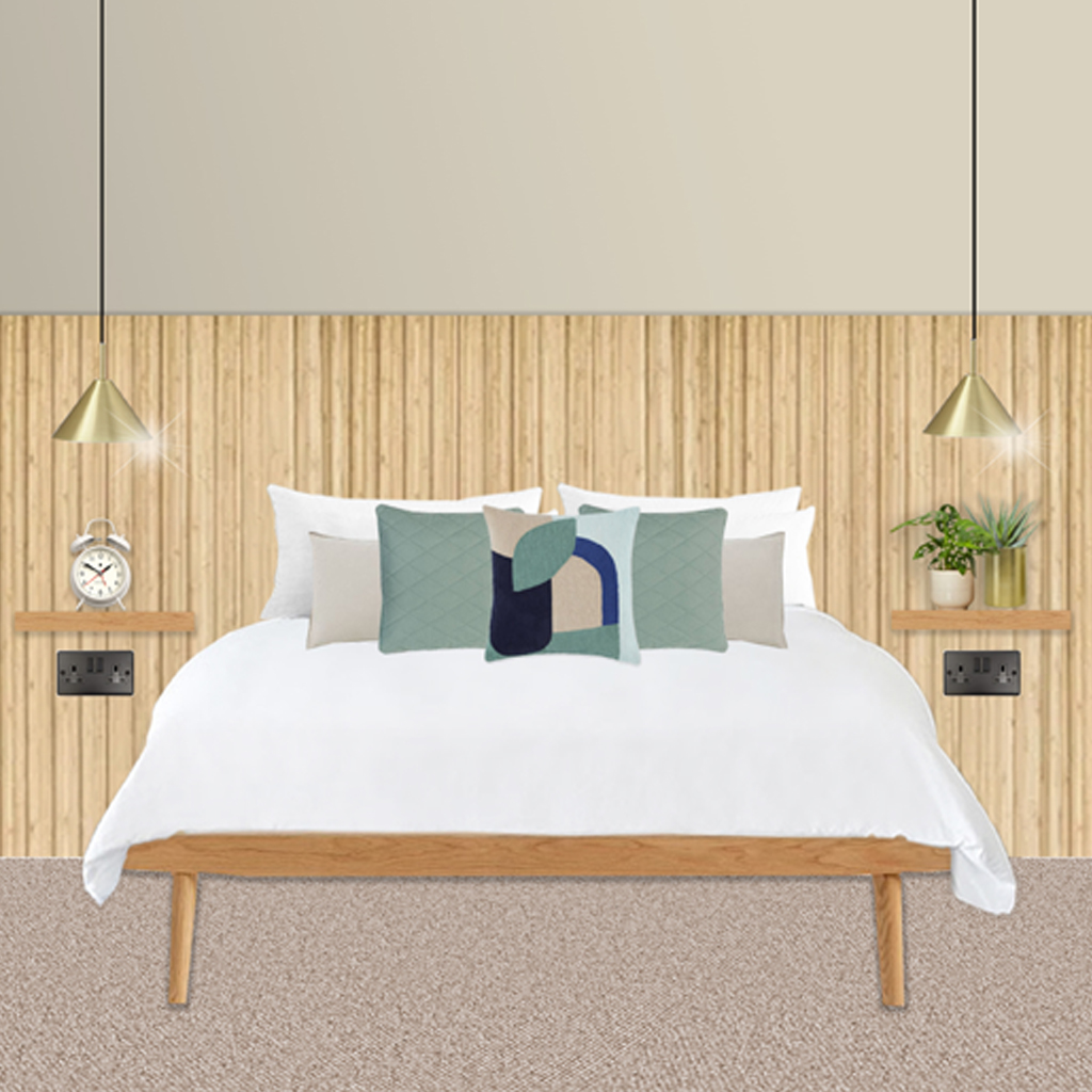 Timber Panelled Bedroom