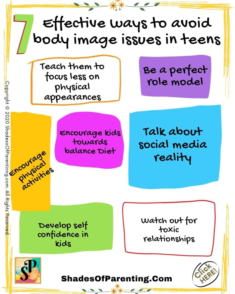 Ways to avoid body image issues in teens