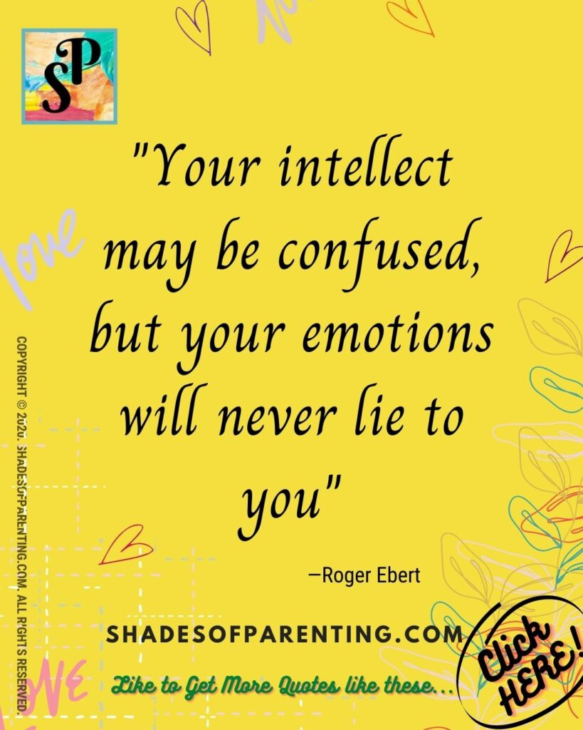 Quote To help you with emotions and feeling