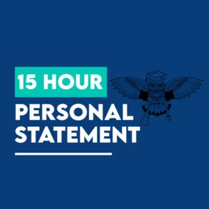 15 hours medicine personal statement package