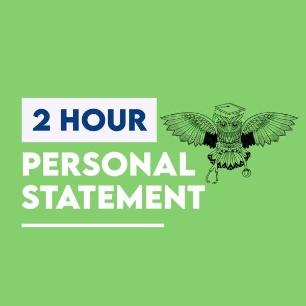 2 hour medicine personal statement
