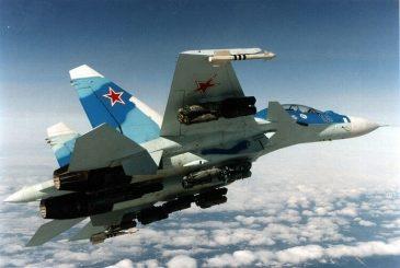 Un SU-30 con la inconfundible estrella roja en el timón.