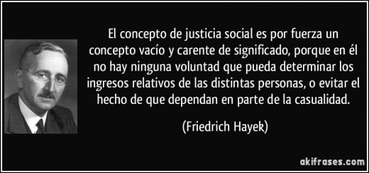 Justicia Social según Hayek