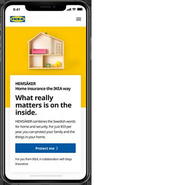 IKEA, HEMSÄKER home insurance: CVP, Prototyping.