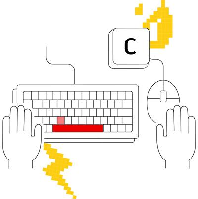 utiliser les 2 mains dans AutoCAD