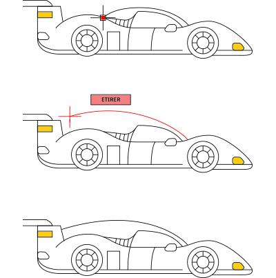 Édition à l'aide de poignées AutoCAD