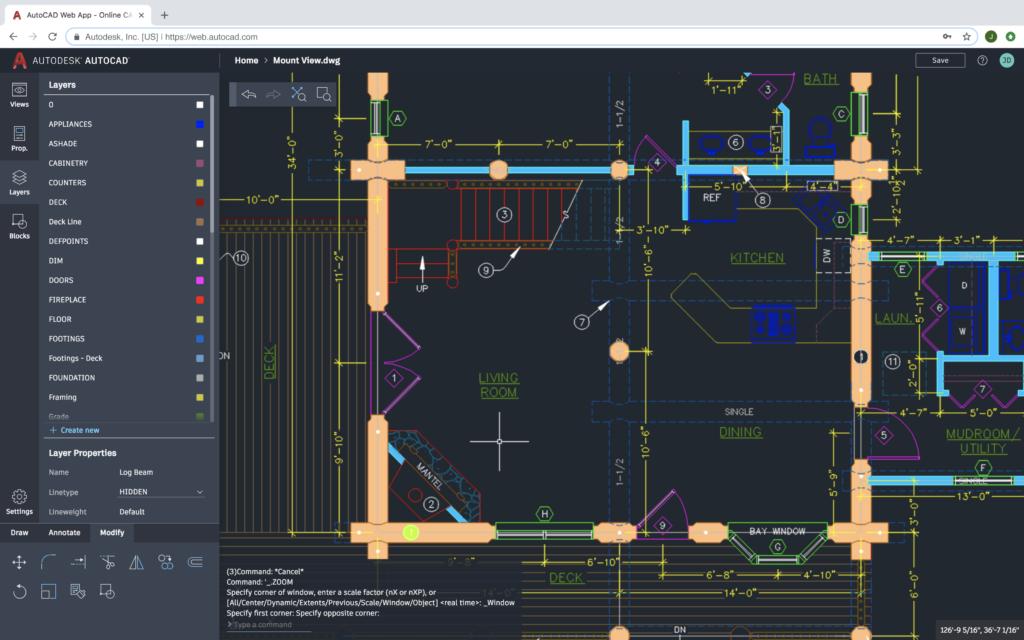 application web AutoCAD