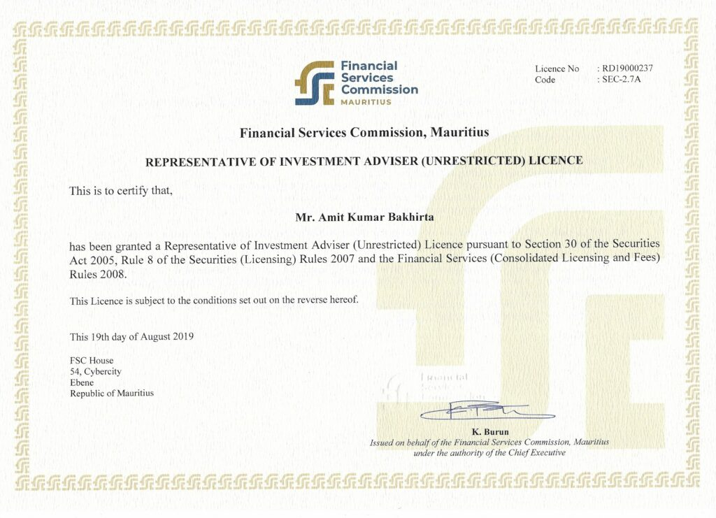 investment representative license