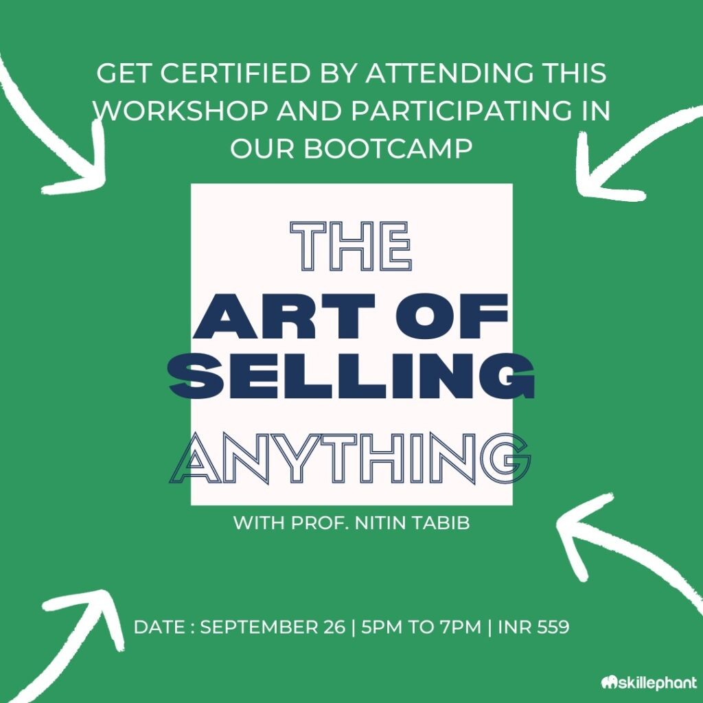 The art of selling anything - Sales Bootcamp Workshop
