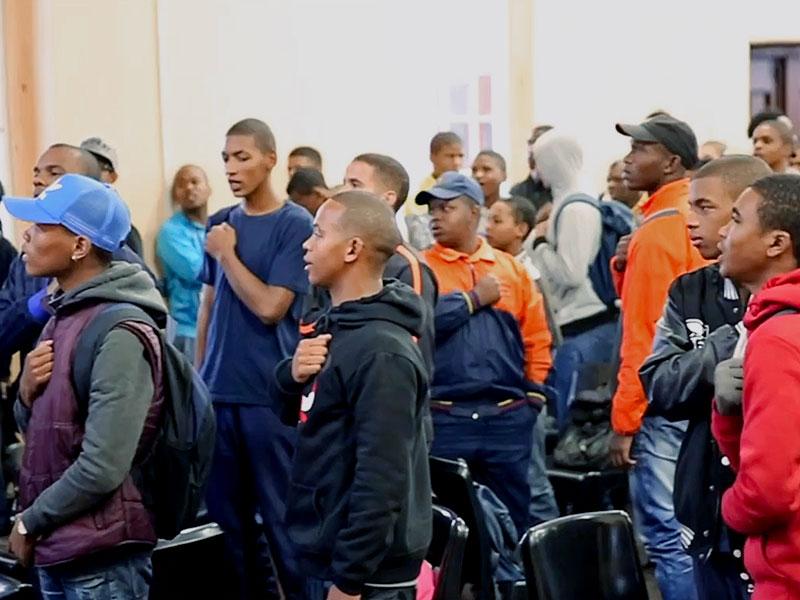 Father A Nation Guyology - High School boys taking a pledge