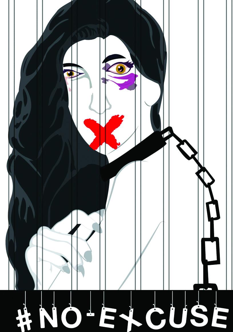 "#NoExcuse Art - Lehlohonolo Langa - ""Silence Equals Imprisonment"""