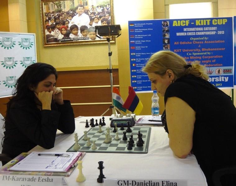 IM Eesha Karavade holds GM Elina Danielian to a draw