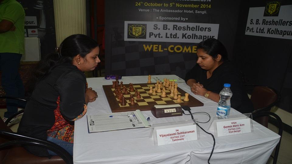 WGM Mary Ann Gomes (W)---IM Vijayalakshmi Subbaraman (B)