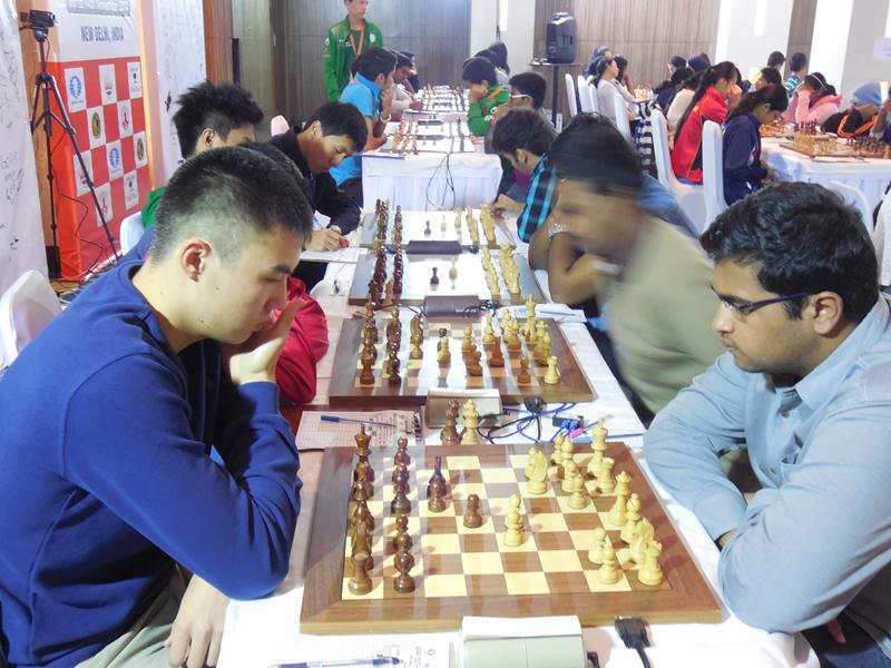 Match between Serikbay Chingiz of Kazakhstan and Chakravarthi Reddy