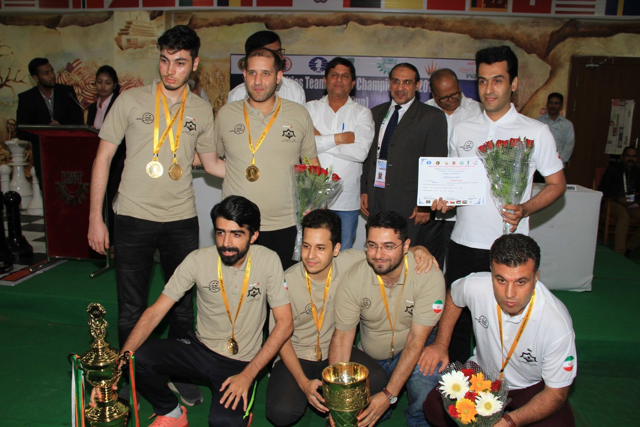 Rasht Team with trophy