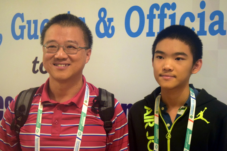 Jeffery Xiong with dad