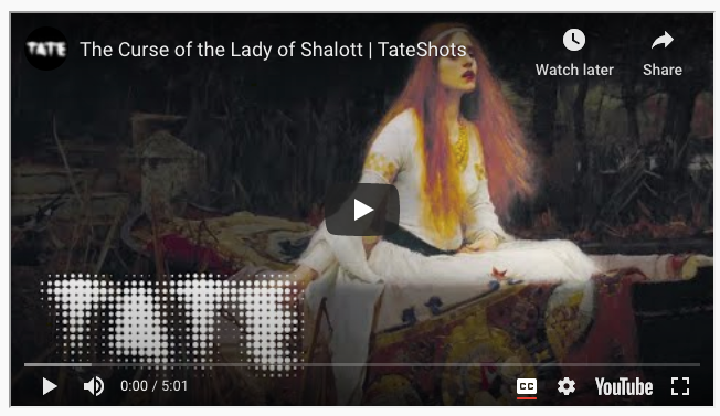 "Screenshot of Youtube video entitled ""The Curse of the Lady of Shalott"""