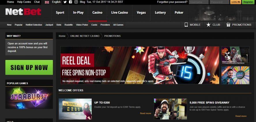 Netbet casino promotions