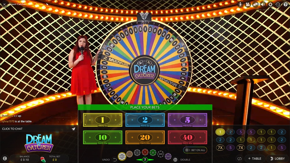 Dreamcatcher live casino