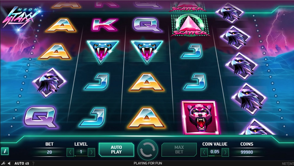Neon Staxx slot game