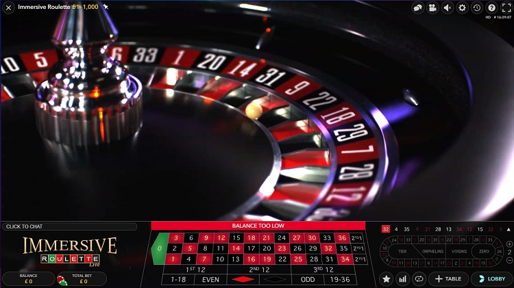 Immersive Roulette game review