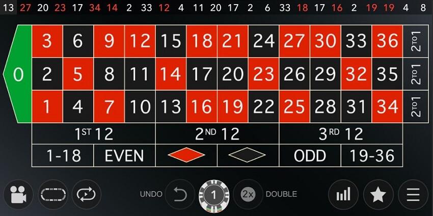 live roulette mobile casino game