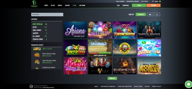 Fansbet Slot Games