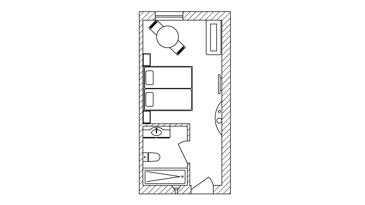 Plattegrond van de kamer