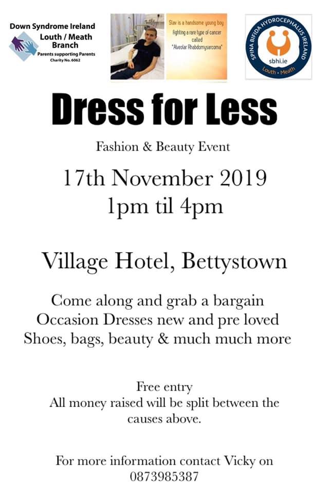 Dress for less - Fundraiser event for Slav