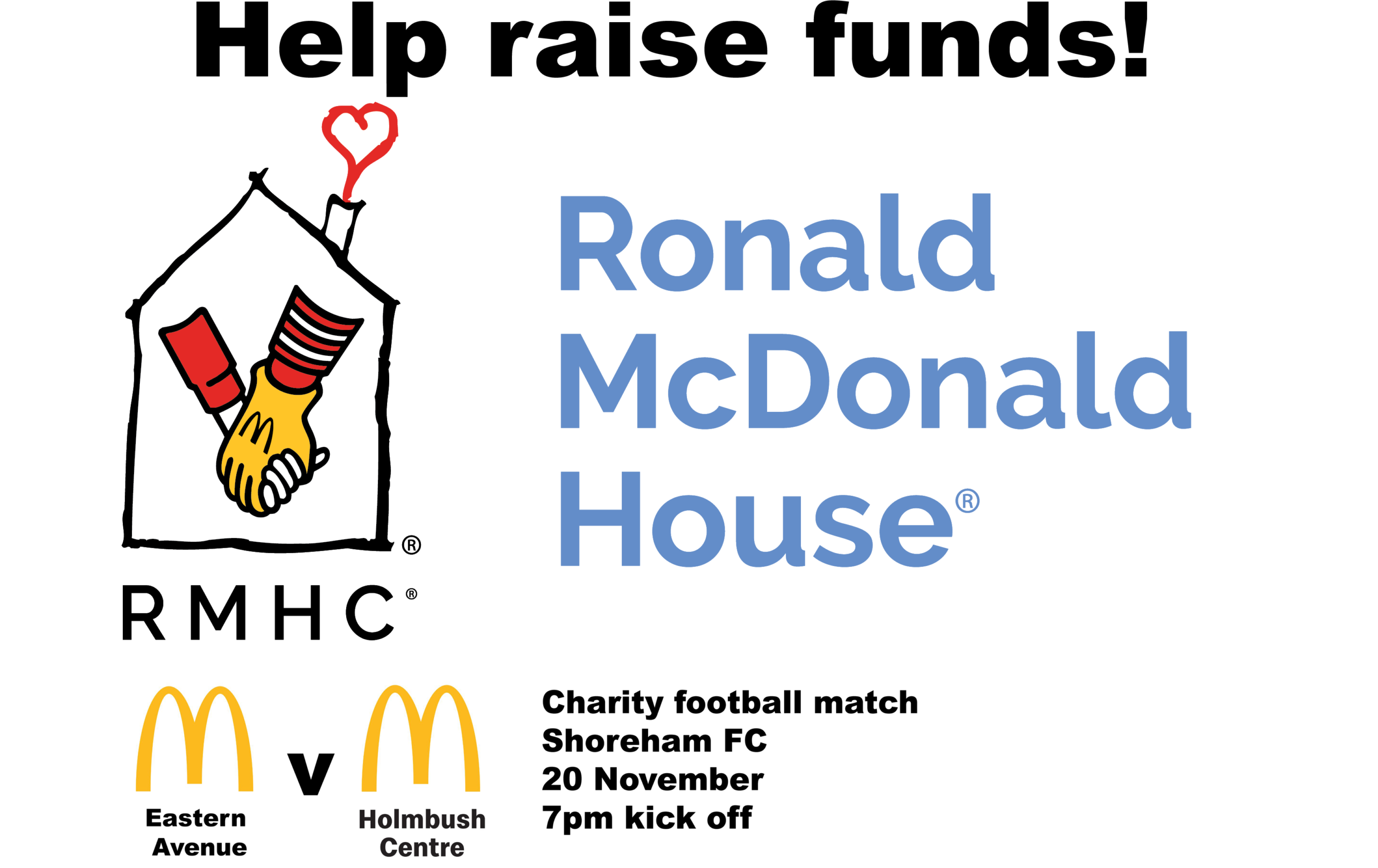 Mcdonalds Charity Match 20th November