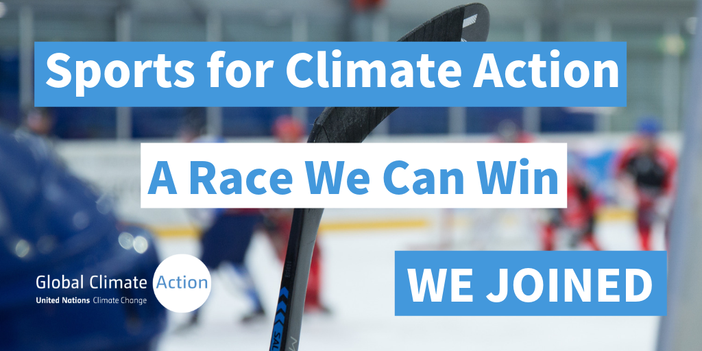We've joined the UNFCCC's Sports for Climate Action Iinitiative