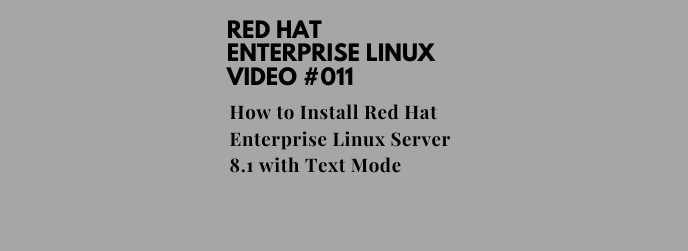 How to Install Red Hat Enterprise Linux Server 8.1 with Text Mode