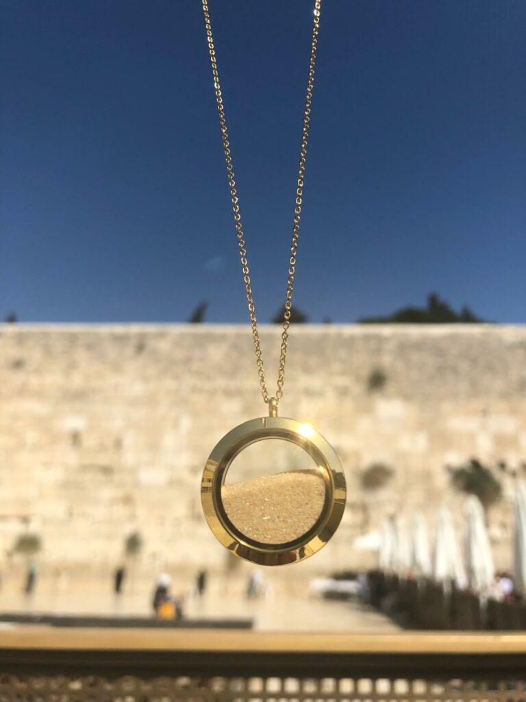 Jewellery, Jewelry, Fashion, Israel, Necklace, Jewish Necklace, Made in Israel, Jerusalem, Jerusalem Sand, Jerusalem Necklace