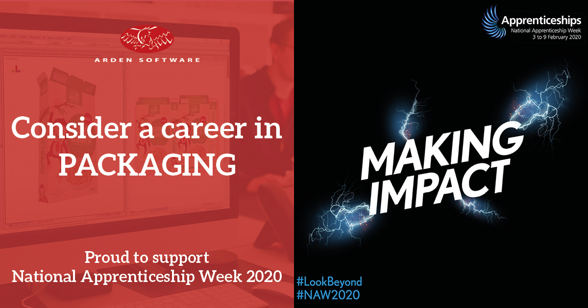 Arden flies the flag for packaging sector during  National Apprenticeship Week