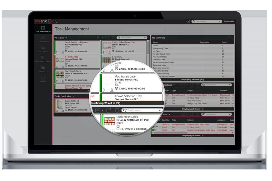 Webcnx virtual project management page