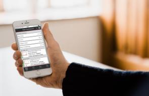 Webcnx running on a smartphone
