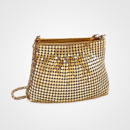 Golden Bag With Chain