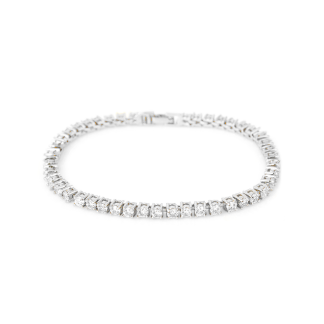 Diamond tennis bracelet 18k gold