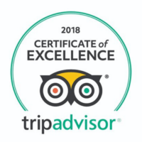 TripAdvisor Certificate of Excellence 2018 for Get Active Rhodes
