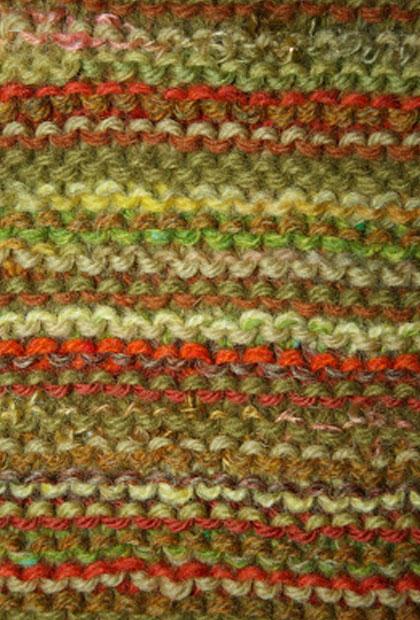 Beginnings and endings – garter stitch throw