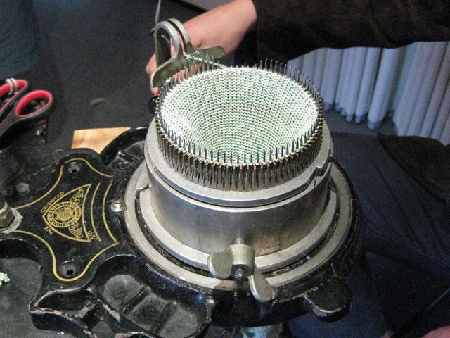 Griswold circular knitting machine