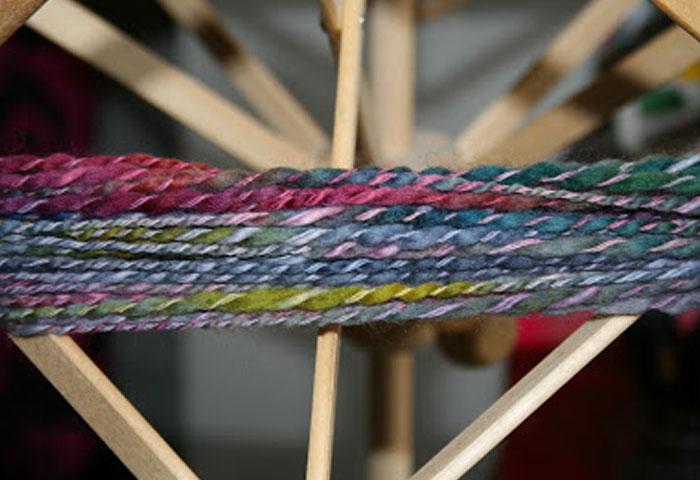 Prism yarn on a swift