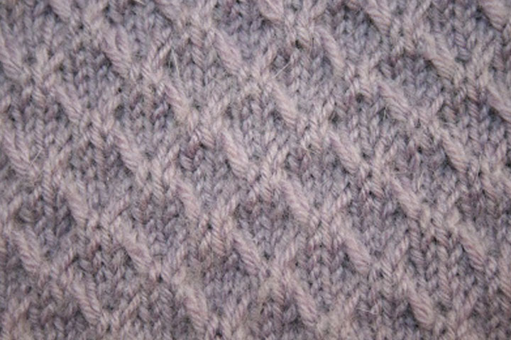 Slip stitch crosses in Angora Merino